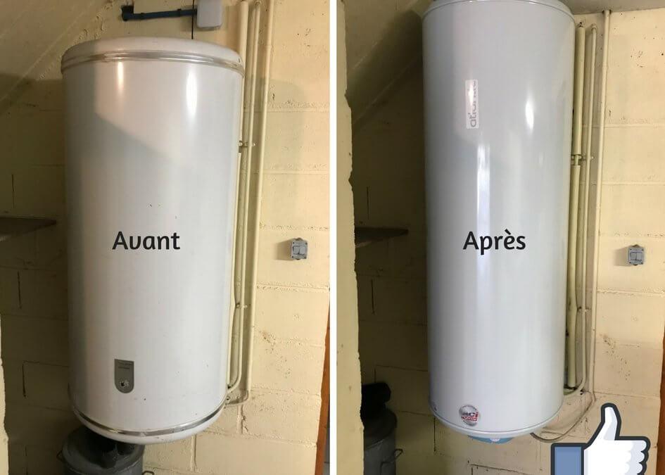 AVANT / APRES – PLOMBERIE – Remplacement de chauffe eau