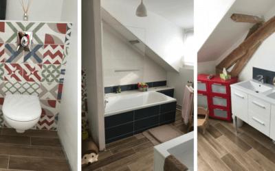 AVANT / APRES – Aménagement de salle de bain en sous pente